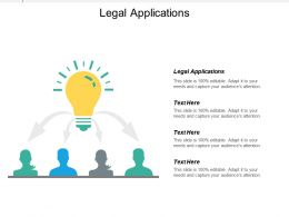 Legal Applications Ppt Powerpoint Presentation Ideas Influencers Cpb