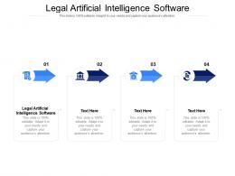 Legal Artificial Intelligence Software Ppt Powerpoint Presentation Infographics Portrait Cpb