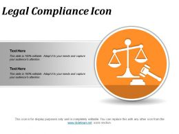 Legal Compliance Icon Powerpoint Slide