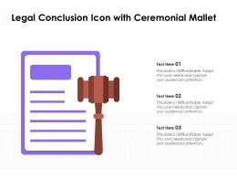 Legal Conclusion Icon With Ceremonial Mallet