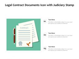 Legal Contract Documents Icon With Judiciary Stamp