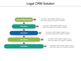 Legal Crm Solution Ppt Powerpoint Presentation Ideas Introduction Cpb