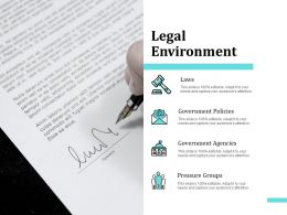 Legal Environment Policies Ppt Powerpoint Presentation Ideas