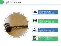 Legal Environment Ppt Powerpoint Presentation Diagram Lists