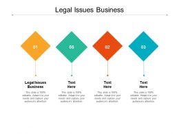 Legal Issues Business Ppt Powerpoint Presentation Professional Good Cpb