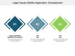 Legal Issues Mobile Application Development Ppt Presentation Gallery Pictures Cpb