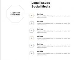 Legal Issues Social Media Ppt Powerpoint Presentation Ideas Tips Cpb