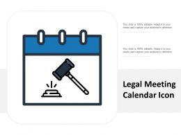 Legal Meeting Calendar Icon