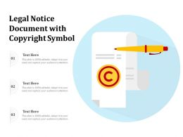Legal Notice Document With Copyright Symbol
