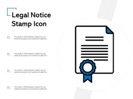 Legal Notice Stamp Icon