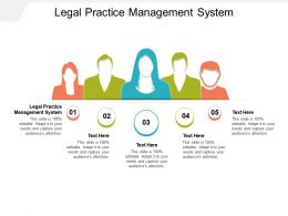 Legal Practice Management System Ppt Powerpoint Presentation Summary Ideas Cpb