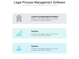 Legal Process Management Software Ppt Powerpoint Icon Visual Aids Cpb