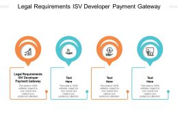 Legal Requirements ISV Developer Payment Gateway Ppt Powerpoint Presentation Styles Cpb