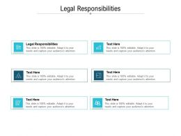 Legal Responsibilities Ppt Powerpoint Presentation Show Brochure Cpb