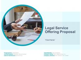 Legal Service Offering Proposal Powerpoint Presentation Slides