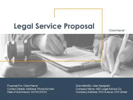 Legal Service Proposal Powerpoint Presentation Slides