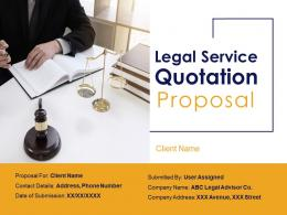 Legal Service Quotation Proposal Powerpoint Presentation Slides