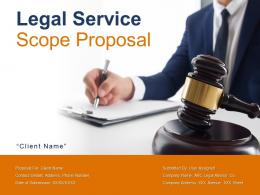 Legal Service Scope Proposal Powerpoint Presentation Slides