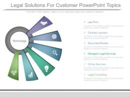 Legal Solutions For Customer Powerpoint Topics