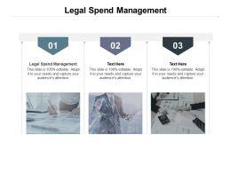 Legal Spend Management Ppt Powerpoint Presentation Professional Deck Cpb