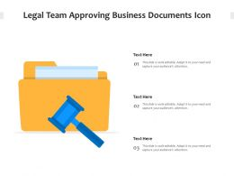 Legal Team Approving Business Documents Icon