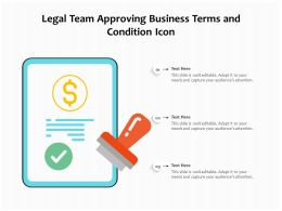Legal Team Approving Business Terms And Condition Icon