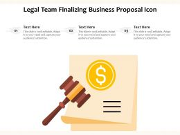 Legal Team Finalizing Business Proposal Icon