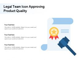 Legal Team Icon Approving Product Quality