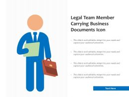 Legal Team Member Carrying Business Documents Icon