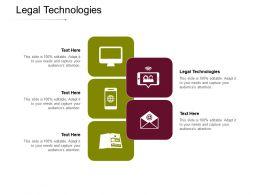 Legal Technologies Ppt Powerpoint Presentation Ideas Cpb