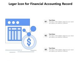 Leger Icon For Financial Accounting Record