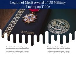 Legion Of Merit Award Of US Military Laying On Table