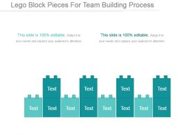 Lego Block Pieces For Team Building Process Ppt Example