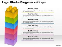 25408153 Style Variety 1 Lego 6 Piece Powerpoint Presentation Diagram Infographic Slide