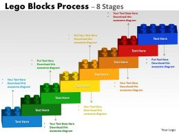 Lego Blocks Flowchart Process Diagram 8 Stages