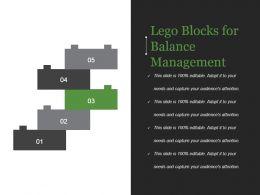 Lego Blocks For Balance Management Powerpoint Slide Backgrounds