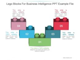 Lego Blocks For Business Intelligence Ppt Example File