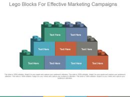 Lego Blocks For Effective Marketing Campaigns Ppt Summary