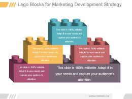Lego Blocks For Marketing Development Strategy Ppt Slide Styles