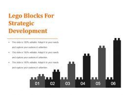 Lego Blocks For Strategic Development Powerpoint Slide Clipart