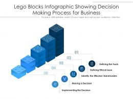 Lego Blocks Infographic Showing Decision Making Process For Business