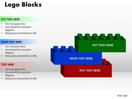 lego blocks powerpoint slides and ppt templates 0412