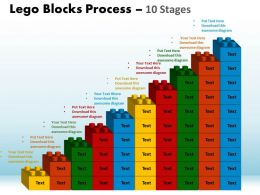 Lego Blocks Process 10 Stages Style 1 Powerpoint Slides And Ppt Templates 0412 76
