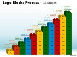 Lego Blocks Process 11 Stages Style 1 Powerpoint Slides And Ppt Templates 0412