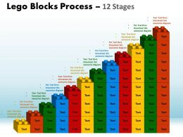 Lego Blocks Process 12 Stages Style 1 Powerpoint Slides And Ppt Templates 0412