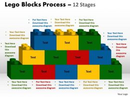 Lego Blocks Process 12 stages Style 2 Powerpoint Slides And Ppt Templates 0412