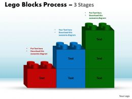 Lego Blocks Process 3 Stages Style 1 Powerpoint Slides And Ppt Templates 0412