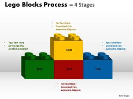 Lego Blocks Process 4 stages Style 2 Powerpoint Slides And Ppt Templates 0412 3