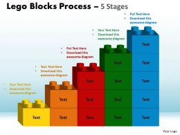 Lego Blocks Process 5 Stages Style 1 Powerpoint Slides And Ppt Templates 0412 9