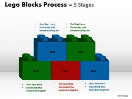 Lego Blocks Process 5 stages Style 2 Powerpoint Slides And Ppt Templates 0412 45